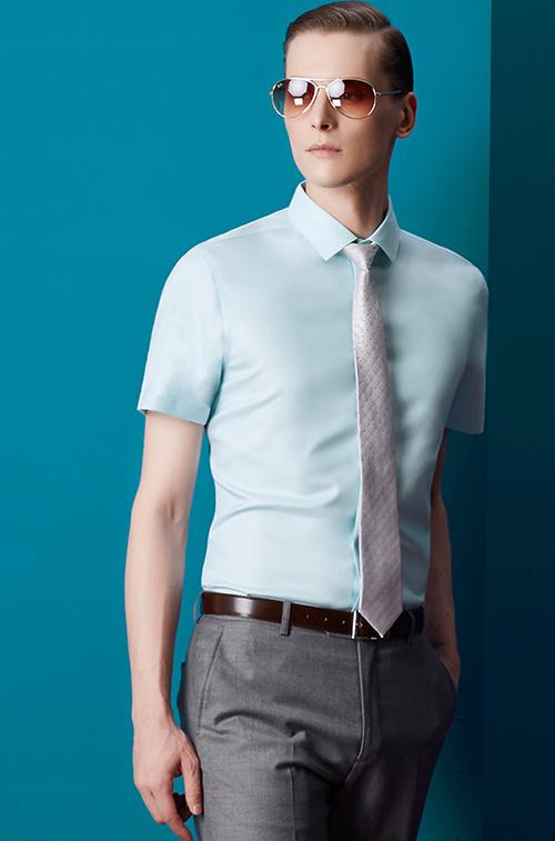 方领男士衬衫