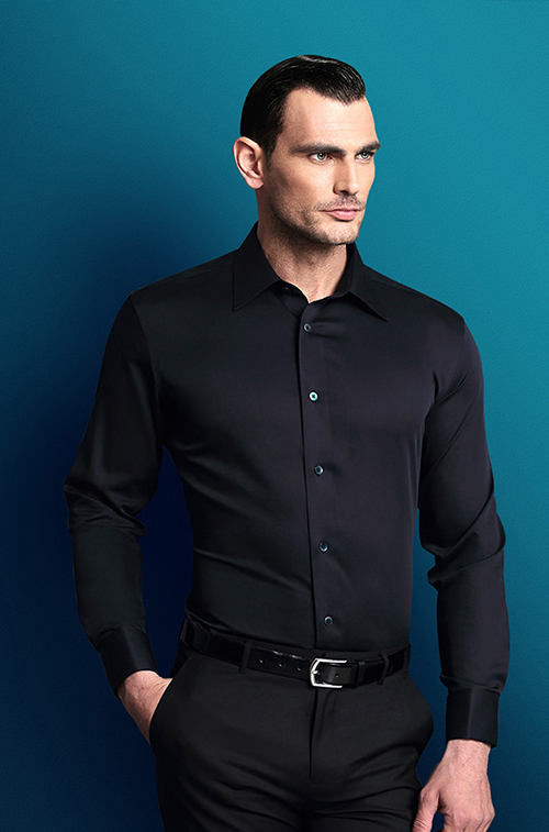 尖领男士衬衫